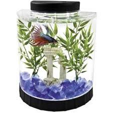 office desk fish tank.  tank gold fish bowl aquarium 4 white led light half moon betta tank home office  desk for