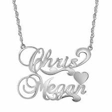 personalized couple s name necklace in sterling silver 2 names