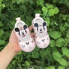 Giầy búp bê Quảng Châu cao cấp hình chuột Mickey cho bé gái mã mới 902-9902