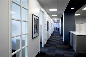 hallway office. office renovation for the ezra company hallway e