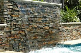 swimming pool stacked stone project