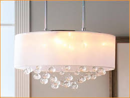 remarkable lamp shade chandelier long oval shape with light and crystal
