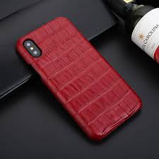 Mobile Cover Designs Handmade Crocodile Skin Design Genuine Leather Back Cover Case For