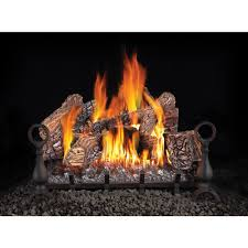 vented natural gas log set with electronic ignition