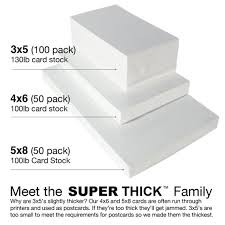 3x5 Cards 3x5 Super Thick Index Cards 100 Pack Blank Heavyweight Card Stock Flash Cards Post Cards