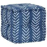<b>Pouffe Cube Cotton with</b> Pattern Handmade 40x40 cm Indigo Sale ...