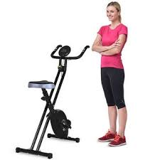Costway Folding Magnetic <b>Exercise Bike LCD</b> Display 3.5lbs ...