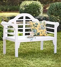 white garden bench. Fine White Lutyens Wood Garden Bench With Folding Design In White For