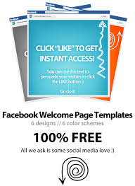 Free Facebook Welcome Page Template Psd Download Wp4fb 3 0