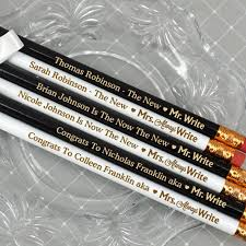 personalized pencils wedding. mr. \u0026 mrs. write personalized pencils wedding g
