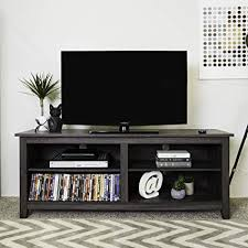 tv stand with storage. Unique With WE Furniture 58u0026quot Wood TV Stand Storage Console Charcoal With Tv G
