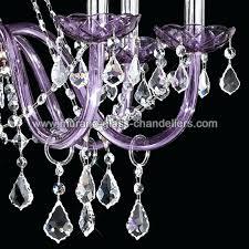 purple chandelier crystal chandelier 8 light purple