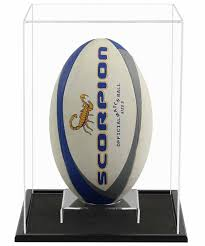 Rugby Ball Display Stand Amazing Acrylic Vertical Rugby Ball Display Case Including A Wooden Base