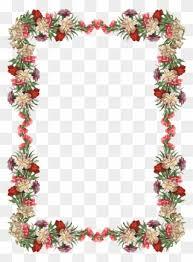 free png flower border frame clip art