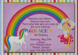 elegant rainbow birthday cute unicorn birthday invitation wording