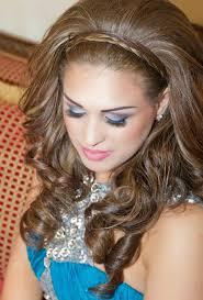 wedding makeup for blue dress