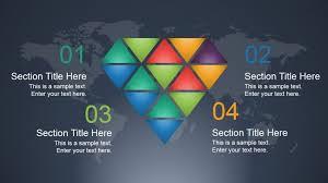 Creative Diamond Slide Design For Powerpoint Slidemodel