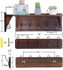 set of 2 entryway coat rack wall