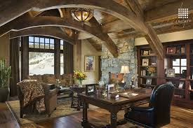 country home office. Country Home Office With Flush Light, Cathedral Ceiling, Hardwood Floors, Built-in .
