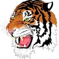 tiger face clipart black and white. Plain Black Tiger Clipart Logo  Frames Illustrations HD Images Photo  Png Throughout Face Clipart Black And White C
