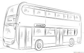 bus drawing for kids. Interesting Kids How To Draw A Doubledecker Bus Step By Step Drawing Tutorials For Kids On Bus For Kids H