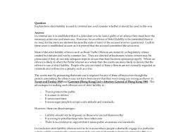 how to write an introduction in vicarious liability essay however i struggle to accept an area of the law that so transparently undermines the crucial principle of causation i ordered a research paper from you and