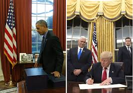obamas oval office. wonderful oval photopresident obama in the oval office 2015 left president trump  january 2017  abc news in obamas office l