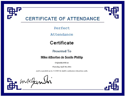 13 Free Sample Perfect Attendance Certificate Templates Printable