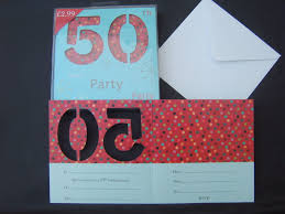 50th birthday party invitations male female cards pack of 10 new sealed age 50 1 of 1only 2 available