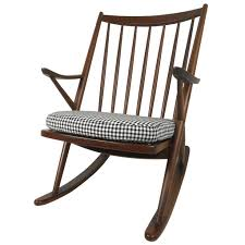 beautiful mid century walnut rocking chair