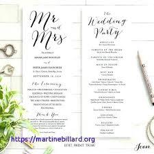 Printable Wedding Program Templates Free Printable Wedding Program Templates Word Unique Programs