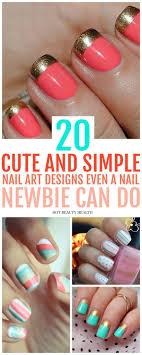 Diy Nail Designs 20 Simple Nail Designs For Beginners Simple Nail Art