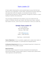 Best Ideas Of Warehouse Team Leader Cover Letter On Resume Sample for Call  Center Team Leader Templates