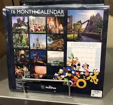 2020 16 Calendar Printable New 2020 Calendars At Disney Parks Touringplans Com Blog