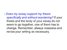 introduction to the essay writing ppt  does my essay support my thesis specifically and out wandering