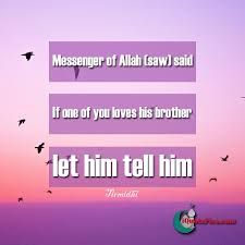 Quotes About Loving Your Brother I love you Hadith 43
