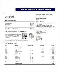 Sample Bank Statement Application For Account Pdf – Jumpcom.co ...