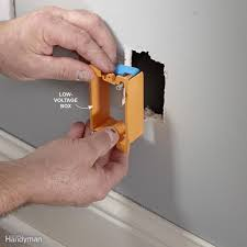 tips for coaxial cable wiring the family handyman install a low voltage box for coaxial cable