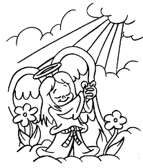 Small Picture Christmas angel Coloring Pages Coloringpages1001com