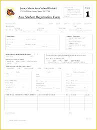student application template student registration form template free download