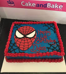 Spiderman Face 03 Cake And Bake