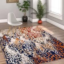 bold modern rugs kyler orange blue contemporary area rug