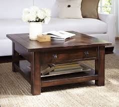 Fancy Rustic Square Coffee Table Benchwright Square Coffee Table Rustic  Mahogany Pottery Barn