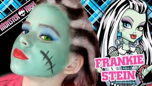 frankie stein monster high doll costume makeup tutorial for howtoshtab how to lifehacks tips and tricks