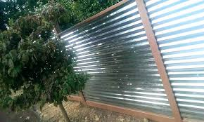 corrugated metal privacy fence.  Metal How To Build A Corrugated Metal Fence Privacy  Fencing N