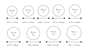Free Size Chart Template Ring Size Chart For Women Men Printable
