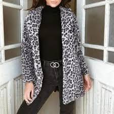 <b>Winter</b> Women Leopard Print Fluffy <b>Fleece</b> Coat <b>2018</b> Newest Thick ...