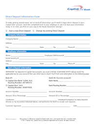 How To Fill Out Direct Deposit Form Capital One Direct Deposit Form Fill Out And Sign Printable Pdf