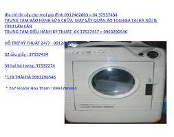 Sửa máy sấy quần áo Toshiba tại nhà Hà Nội (024) 37537274