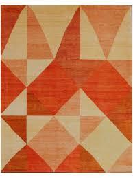 gabbeh tribal modern rust gold wool rug 13215